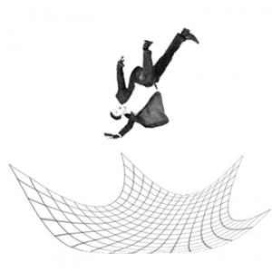 man-falling-onto-safety-net