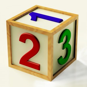 Kids Wooden Number Block As Symbol For Numeracy Or Counting